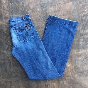 7 For all Mankind DOJO flare wide leg jeans 30